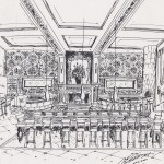 Drawing of Emmet Carter Manhatten Restaurant Project