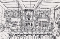 Drawing of Emmet Carter Manhatten Restaurant Project
